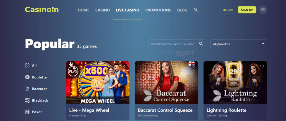 Casinoin Live Games