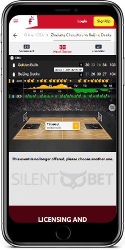 Funbet mobile live bets on iPhone