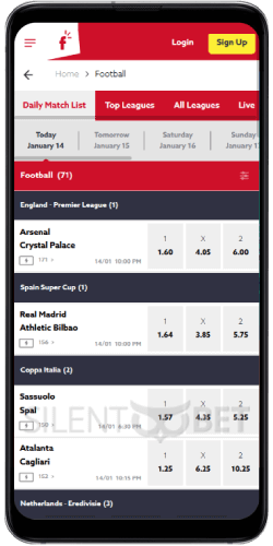 Funbet mobile sports bets on Android