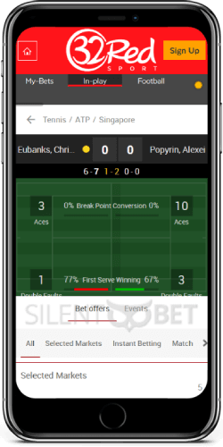 32Red Live Tennis for iOS