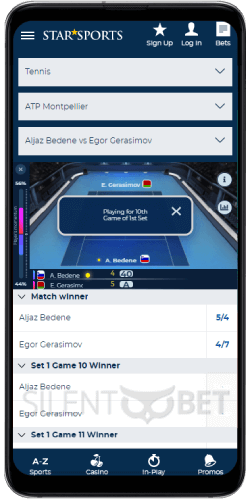 StarSports mobile live betting on Android