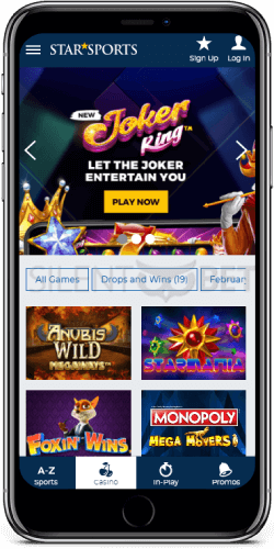 StarSports mobile casino for iOS