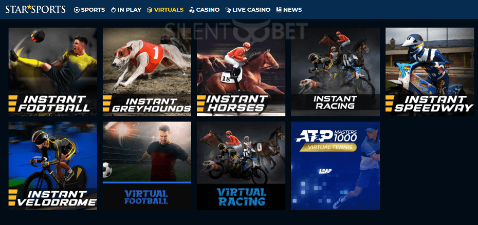 StarSports virtuals section