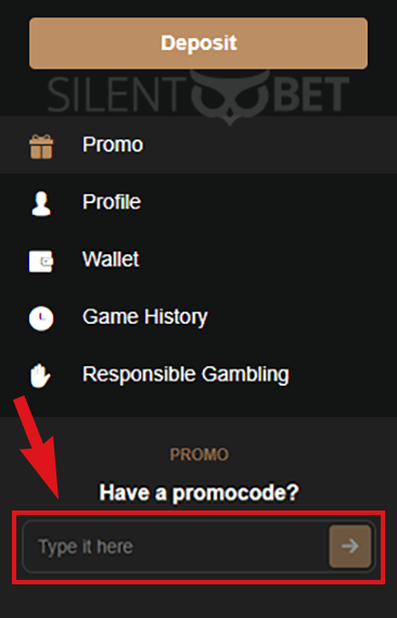 King Billy Casino Bonus Code Field