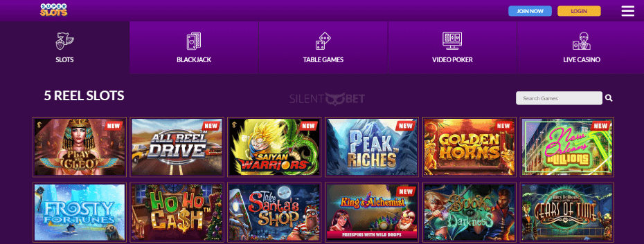 SuperSlots.ag Casino Games