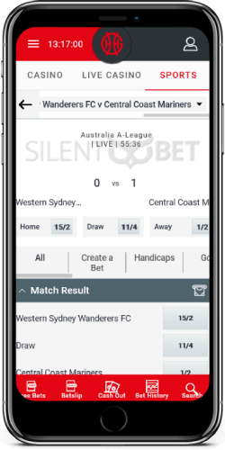 GentingBet Live Sports on iOS