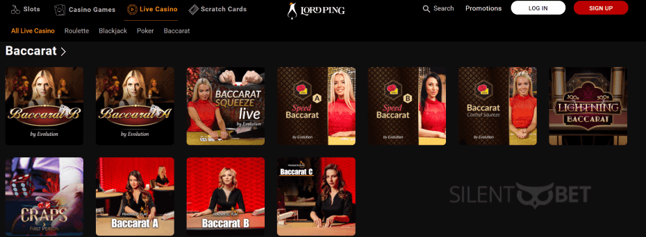 lordping live casino games