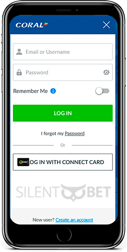 Coral mobile login form for iOS