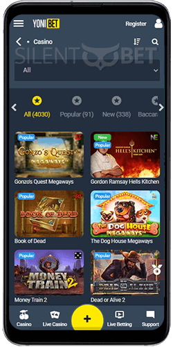Yonibet casino on Android