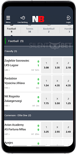 Netbet mobile live betting for Android